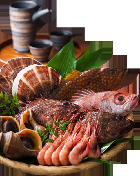 海鮮屋台おくまんの新鮮魚介